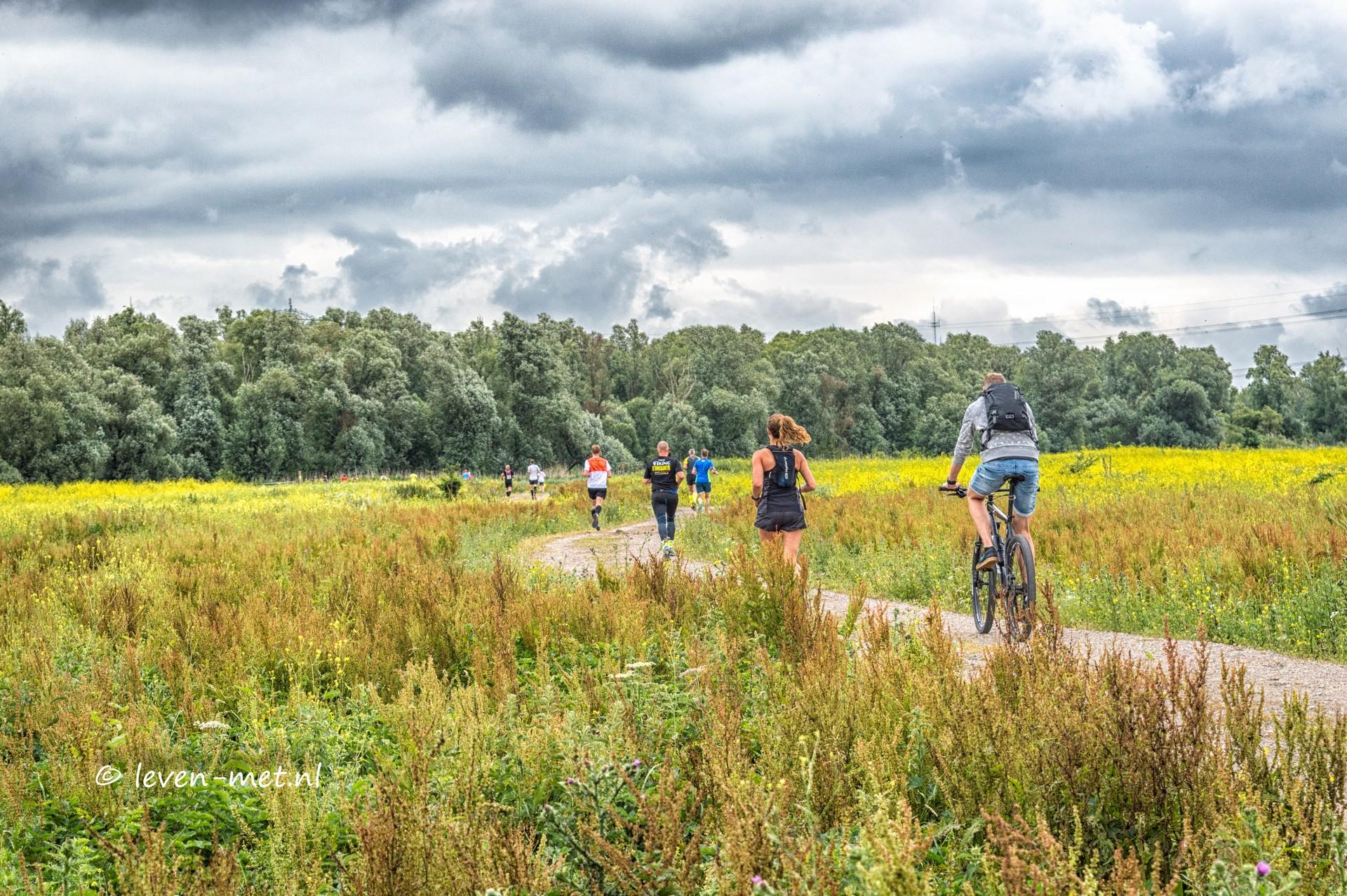 Trailrun in het Oostvaardersveld